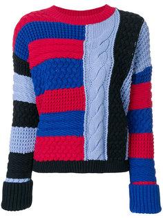 свитер с конрастными панелями Tommy Hilfiger