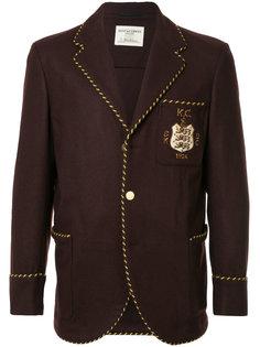 приталенный пиджак с заплаткой с логотипом Kent & Curwen