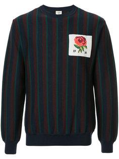 свитер в полоску с заплаткой с логотипом Kent & Curwen