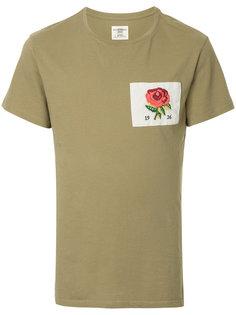 футболка с заплаткой с розой Kent & Curwen