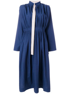 плиссированное платье с ремешком на воротнике Cédric Charlier