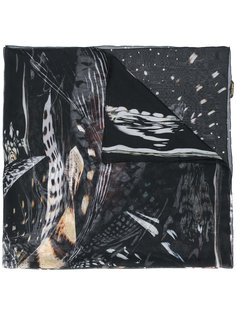 шарф с перьями Roberto Cavalli