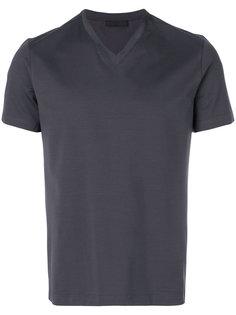 классическая футболка с V-образным вырезом Prada