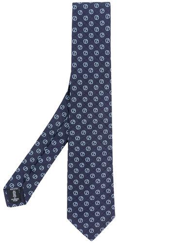 жаккардовый галстук с узором  Giorgio Armani