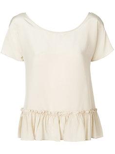 расклешенная блузка с оборками  Twin-Set