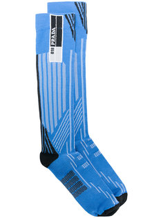 полосатые носки Prada