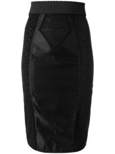 юбка-карандаш с кружевной вставкой  Dolce & Gabbana