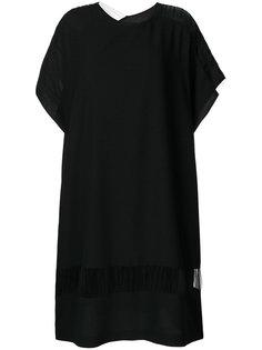 платье шифт с полупрозрачными вставками  Maison Margiela