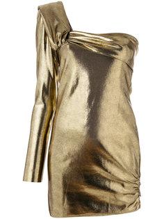 блузка на одно плечо с эффектом металлик Baja East