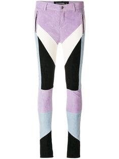 байкерские брюки дизайна колор-блок Filles A Papa