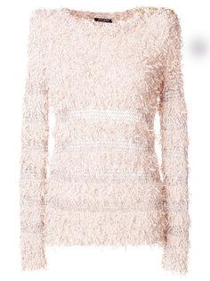 пуловер с бахромой  Balmain