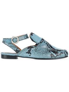 snakeskin-effect loafers Nicole Saldaña