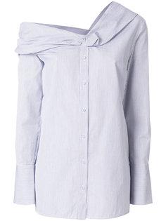 рубашка с открытыми плечами в полоску Victoria Victoria Beckham