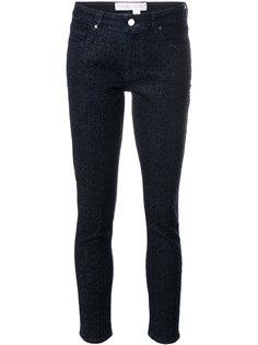"""джинсы """"скинни"""" с украшением из горного хрусталя Victoria Victoria Beckham"""