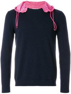 свитер с контрастным капюшоном Valentino