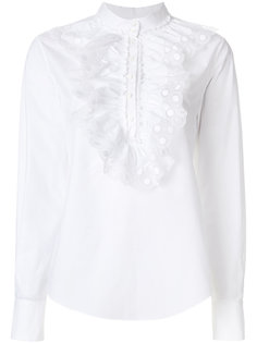 ажурная блузка с оборкой  Chloé