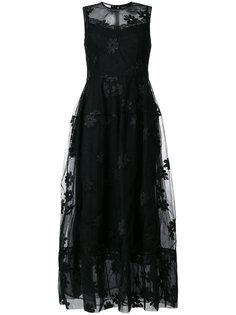 платье с цветочной аппликацией  Simone Rocha