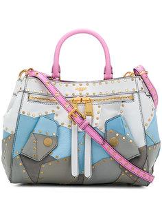 """сумка-тоут дизайна """"пэчворк"""" с заклепками Moschino"""
