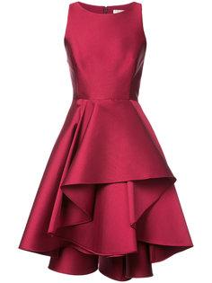 платье с оборчатой юбкой Halston Heritage