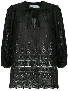 блузка с вязаными крючком деталями Zimmermann