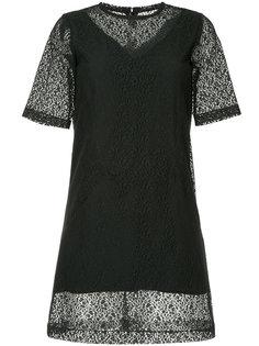 полупрозрачное платье мини с вышивкой  Neil Barrett