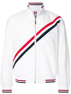 спортивная куртка с диагональными полосками Thom Browne