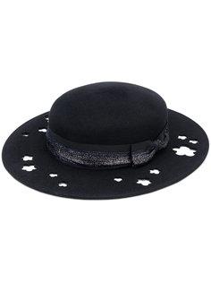 шляпа Kiki с блестками и вырезными деталями Maison Michel