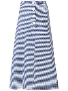 А-образная юбка миди в полоску  Joseph