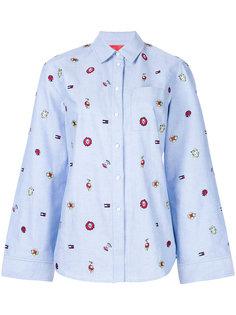 расклешенная рубашка с вышивкой  Tommy Hilfiger