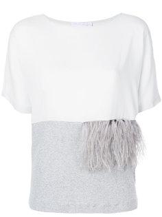 блузка с отделкой перьями Fabiana Filippi