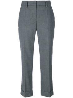 строгие укороченные брюки  Prada
