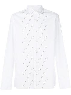 поплиновая рубашка с вышивкой Lanvin