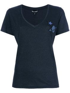 футболка с аппликацией в виде планеты Emporio Armani