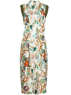 платье миди с цветочным принтом  Alberta Ferretti