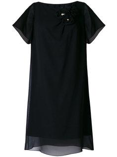 платье шифт с отделкой  Lanvin