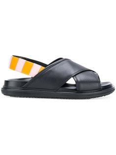 сандалии Fussbett Marni