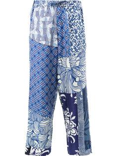 брюки с комбинированным принтом Pierre-Louis Mascia