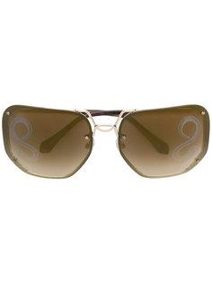 объемные солнцезащитные очки Gallicano Roberto Cavalli