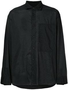 классическая однотонная рубашка Homme Plissé Issey Miyake