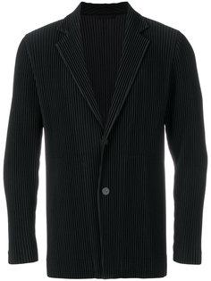 приталенный пиджак с ребристой фактурой Homme Plissé Issey Miyake