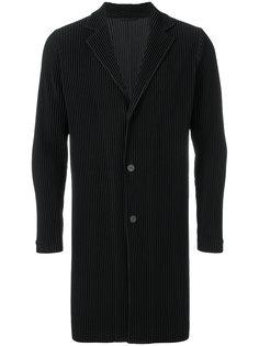 приталенное пальто с ребристой фактурой Homme Plissé Issey Miyake