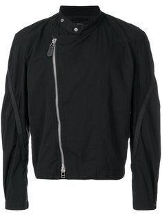 классическая байкерская куртка Homme Plissé Issey Miyake