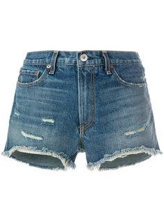 джинсовые шорты с эффектом потертости Rag & Bone