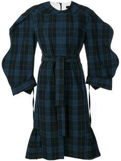 платье-миди с узором в клетку Eudon Choi