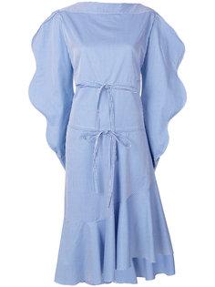 расклешенное платье миди в клетку Eudon Choi
