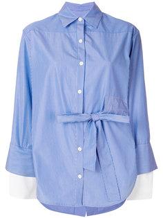 рубашка в полоску с завязкой сбоку  Eudon Choi