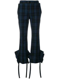укороченные брюки с узором в клетку Eudon Choi