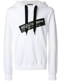 толстовка с капюшоном и принтом логотипа Dolce & Gabbana