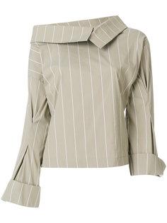 асимметричная блузка в полоску  Erika Cavallini