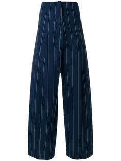 широкие брюки в полоску  Erika Cavallini